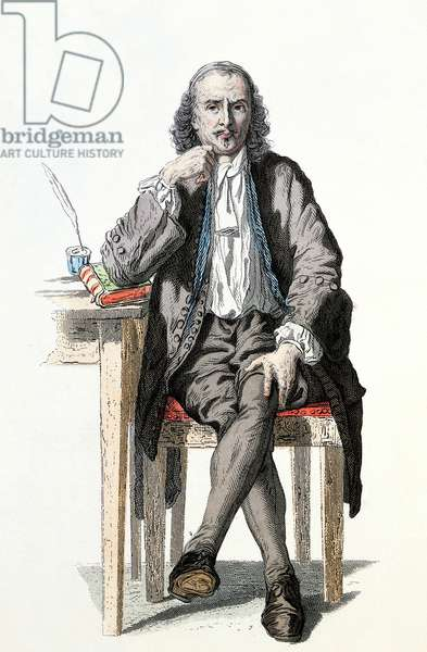 Pierre Corneille (1606-1684) draws by Geoffroy