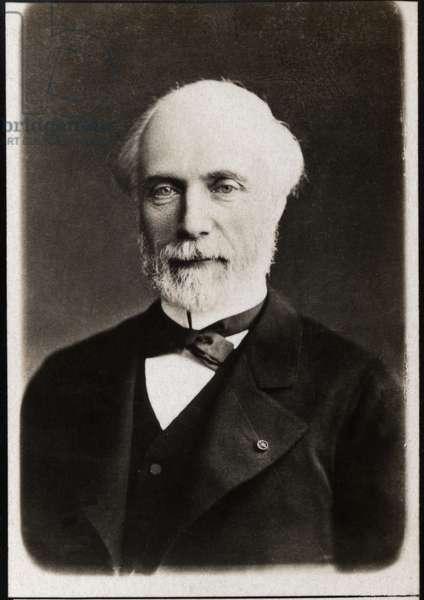 Portrait of Louis Charles de Saulces de Freycinet (1828-1923), French statesman.
