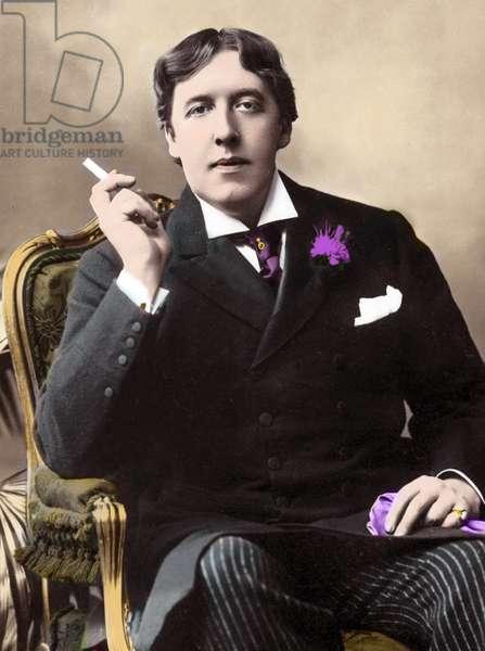 portrait of Oscar Wilde. 19th century photograph