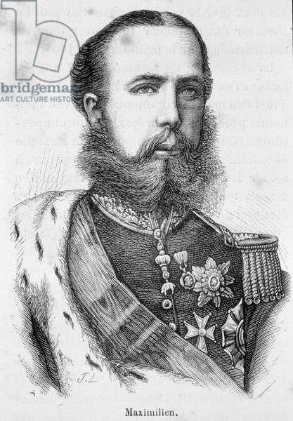 Portrait of Maximilian I of Mexico or Ferdinand Maximilian Joseph, Prince Imperial and Archduke of Austria, Royal Prince of Hungary and Boheme (1832- 1867)