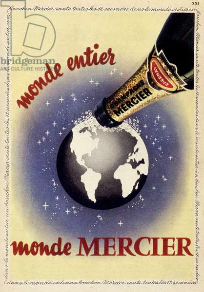 Advertising poster for Champagne Mercier, deb. 20th century