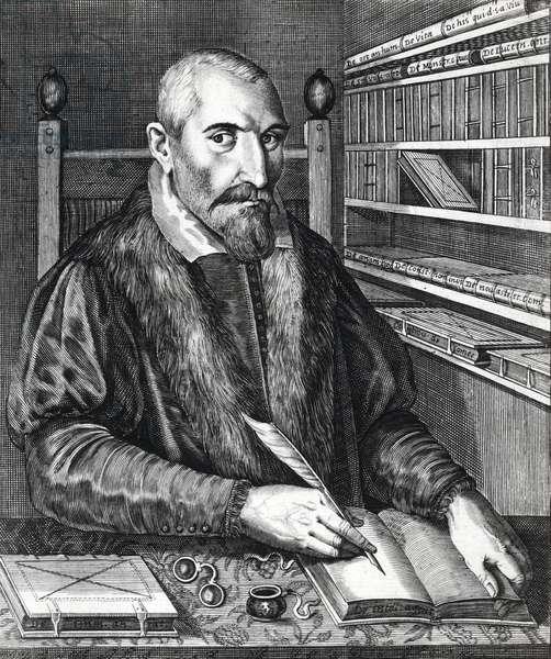 Portrait of Fortunio Liceti (Fortunius Licetus 1577-1657) Italian doctor, philosopher, and scientist