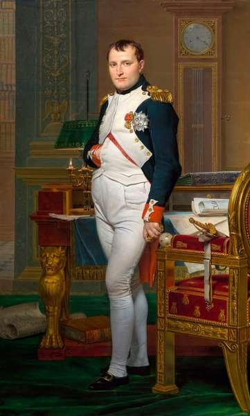 """Portrait en pied de Napoleon Ier (1769-1821) dans son cabinet de travail aux Tuileries"""", 1812 (oil on canvas)"""