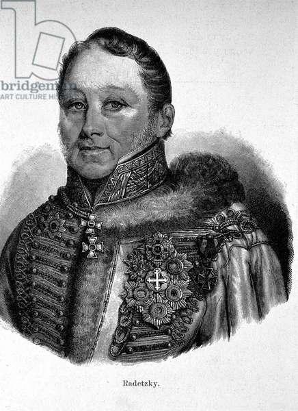 Portrait of Joseph Radetzky, Count von Radetz (1766 - 1858), Austrian Feld-Marechal.