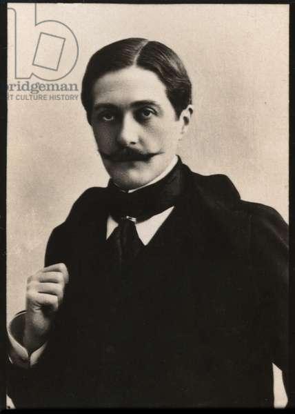 Portrait of Paul Hervieu (1857-1915), French dramatist and novelist.