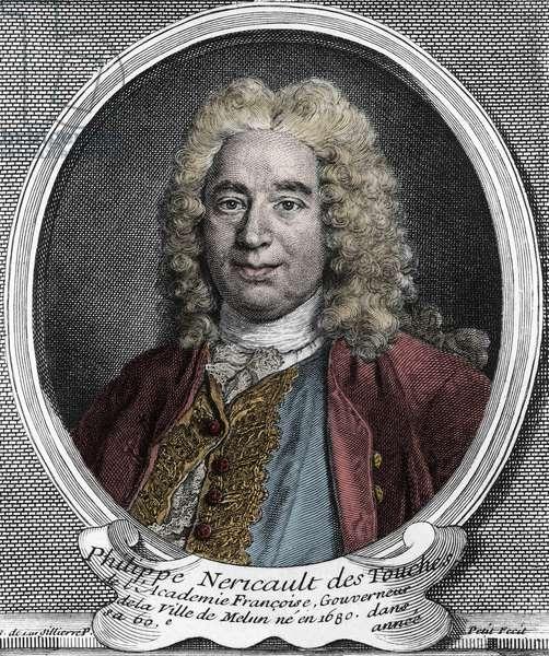 Portrait of Philippe Nericault Destouches (1680-1754), French playwright, engraving - Portrait of Philippe Nericault Destouches (1680-1754)