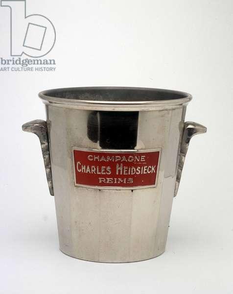 Champagne bucket appellation Charles Heidsieck de Reims.
