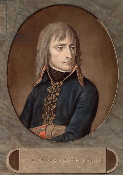 the General Bonaparte in 1798 - engraving by Andrea Appiani (1754-1817) -