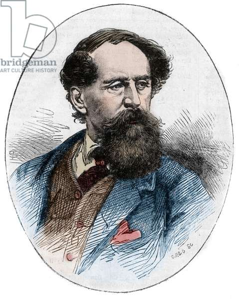 CHARLES DICKENS (1812-1870) - English novelist - Portrait of the British writer Charles Dickens (1812-1870)