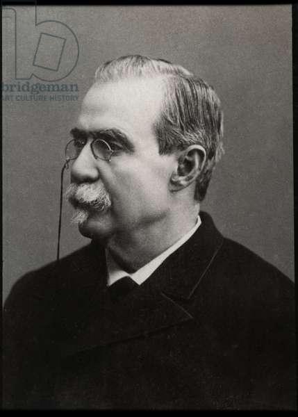 Portrait of Antonio Canovas del Castillo (1828-1897), Spanish politician and historian.