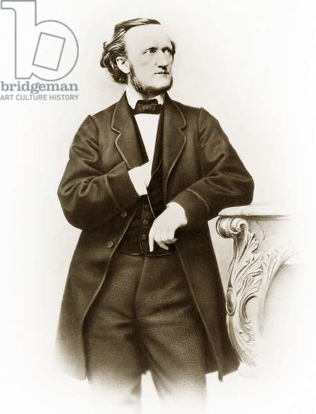 Portrait of Richard Wagner (1813-1883), German composer photo by Joseph Albert (1825-1886), 1864.