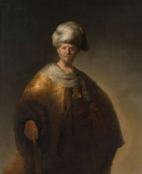 The Oriental Noble also known as The Slavic Noble - Painting by Rembrandt van Rijn (1606-1669), 1632, oil on canvas 152.5 x 111.1 cm, New York, The Metropolitan Museum of Art, inv. n* 20.155.2