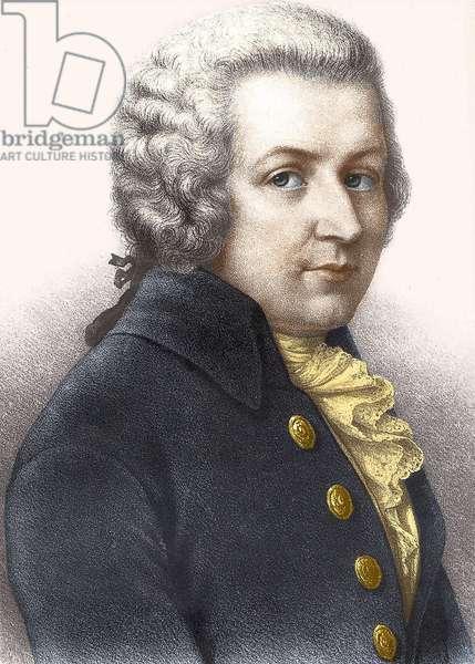 Portrait of Wolfgang Amadeus Mozart (1756-1791).