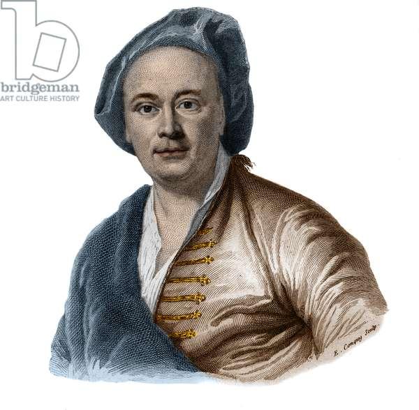 Portrait of french painter Maurice Quentin Delatour (De La Tour) (1704-1788).
