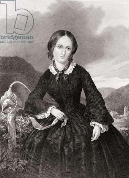 Portrait of Charlotte Bronte (1816 - 1855), poet and novelist.
