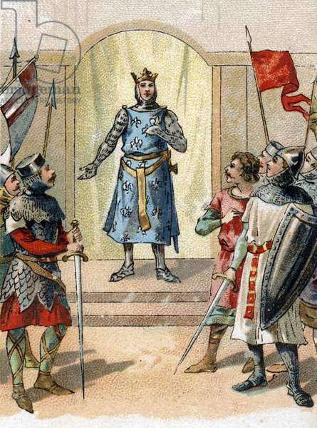 My crown to the brave phrase said by Philippe Auguste 27 July 1214 to the lords on the eve of the battle of bouvines.