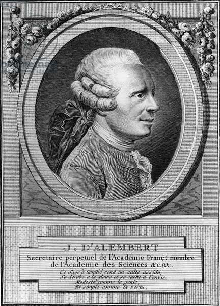 Portrait of Jean Le Rond d'Alembert (1717-1783), French philosopher, writer and mathematician