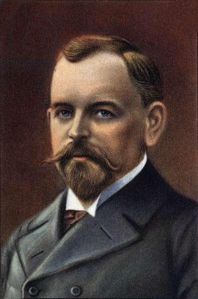 Portrait of Nils Otto Gustaf Nordenskjöld (colour litho)