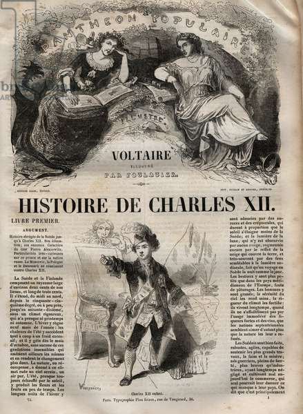 History of Charles XII (Carl) (1682-1718), King of Sweden - by Voltaire and illustrated by Foulquier