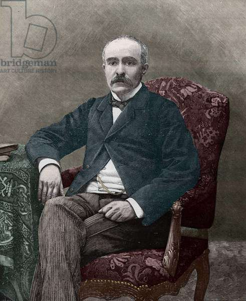 Georges Clemenceau (1841-1929), French politician in 1885.