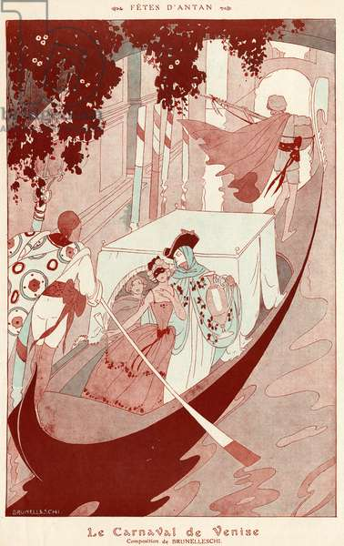 The Carnival of Venice, 1926 (lithograph)
