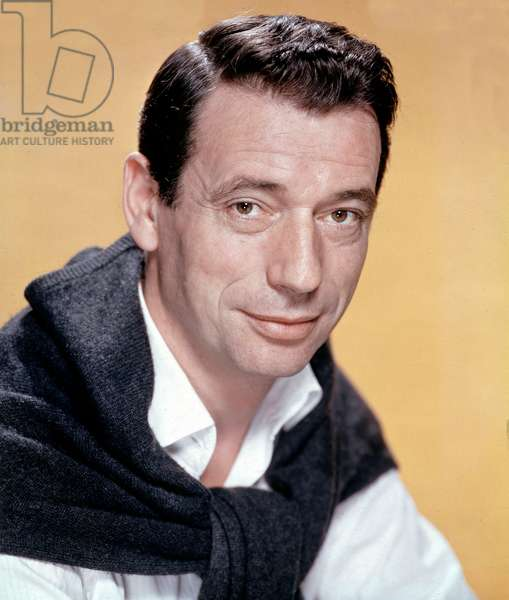 Portrait of Italian-born French actor and singer Yves Montand (Ivo Livi) - 1960s - Portrait of the french singer and comedian Yves Montand in the 1960s