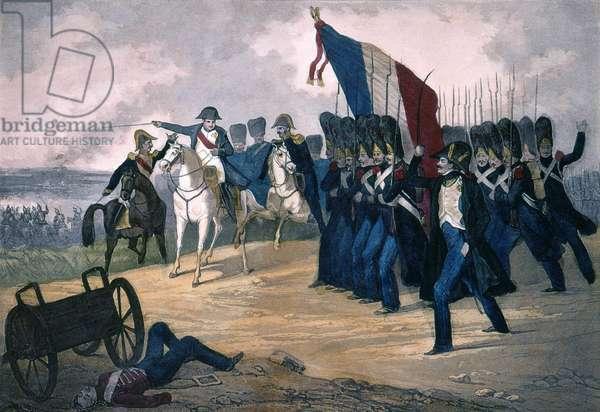 Napoleon I in Waterloo on 18/06/1815 - Engraving 19th century