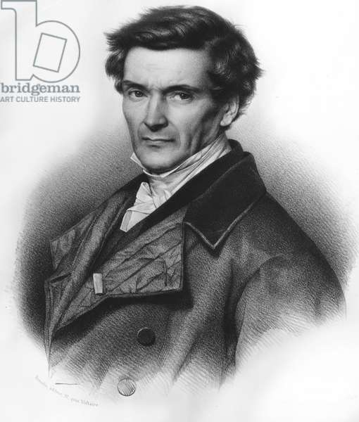 Portrait of Gustave Gaspard Coriolis (1792-1843) Ingenieur and Mathematician francais