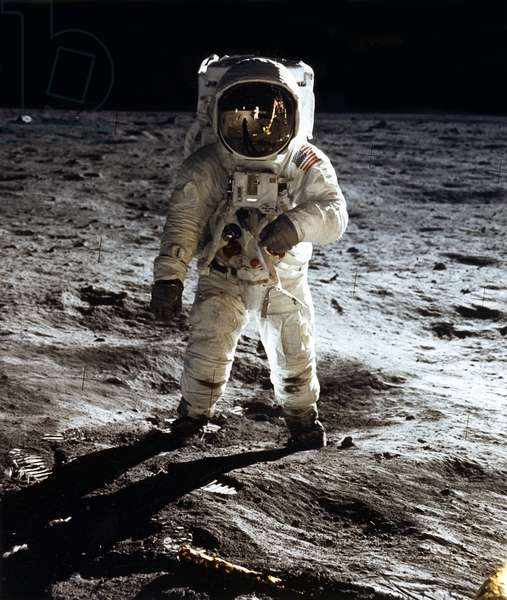 Apollo 11 - Astronaut Edwin E. Aldrin Jr on the moon of 20/07/1969 (photo)