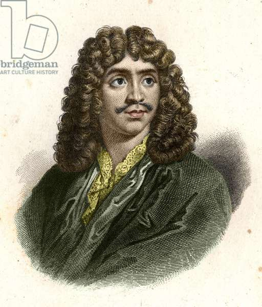 Jean Baptiste Poquelin dit Molière (1622 - 1673) engraved by Giraut.