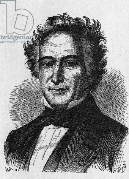 "Portrait of Michel Eugene (Michel-Eugene) Chevreul (1786-1889), French chemist - in ""Album de la Science; illustrious scientists; Great discoveries"""""" 1896."