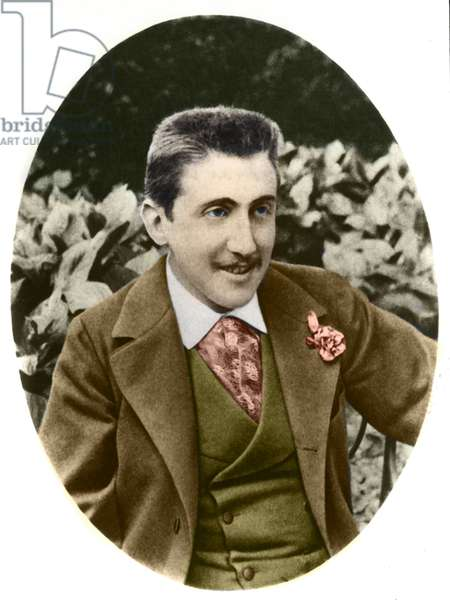 Marcel Proust (1871-1922), French writer, circa 1891