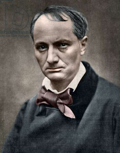 Charles Baudelaire (1821-1867), French writer, Photo de Carjat.