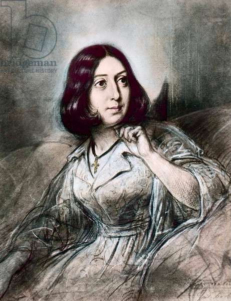 Portrait of George Sand after Louis Leopold Boilly