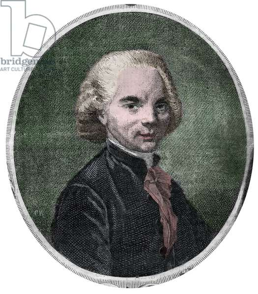 Portrait of Abbe Delille. Jacques Delille, French poet and ecclesiastic (1738-1813).