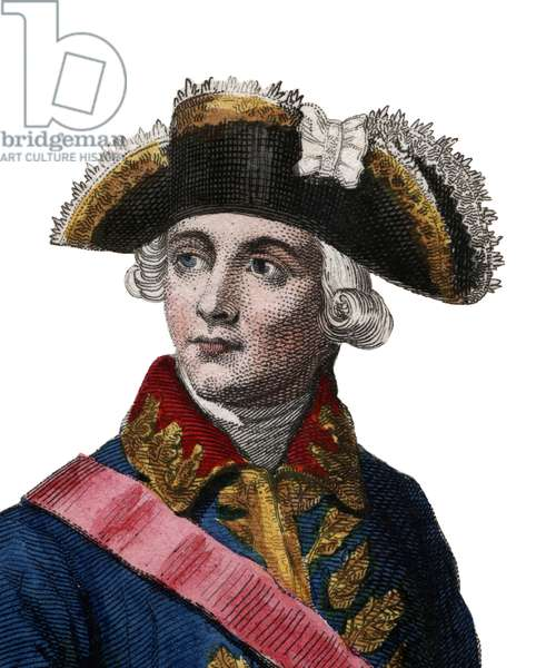Portrait of Jacques Antoine Hippolyte, Comte de Guibert (1743-1790), French general and military writer.