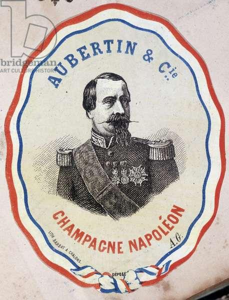 Champagne Napoleon - Aubertin & Cie. (portrait of Napoleon III)