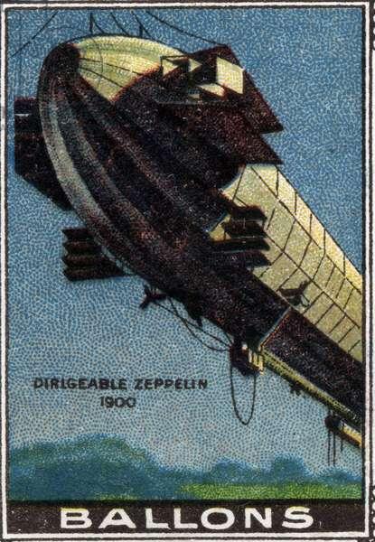 Zeppelin Airship Balloon, 1900.
