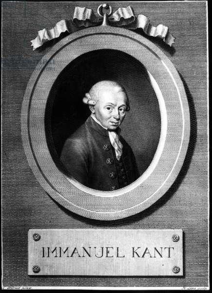 Portrait of (Immanuel) Emmanuel Kant (1724-1804) German philosopher