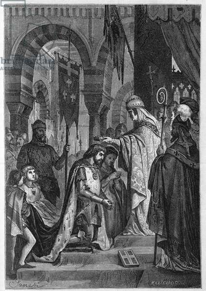 Charles I of Anjou (Charles I of Sicily) (1226-1285) was invested in the Kingdom of Sicily on 28/06/1265 by Pope Clement IV (v. 1195-1268).