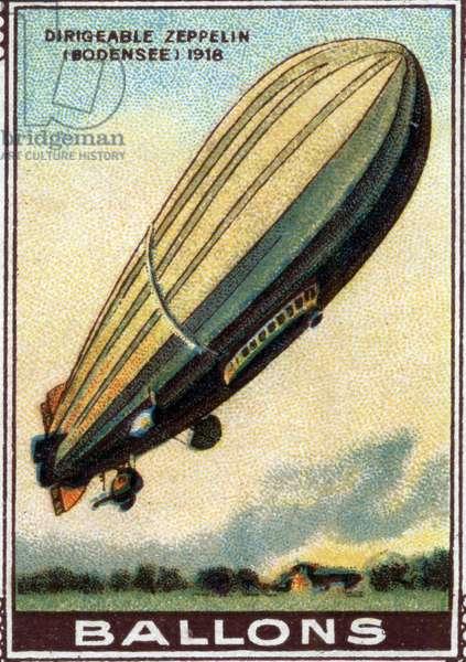 Zeppelin Airship Balloon (Bodensee), 1918.