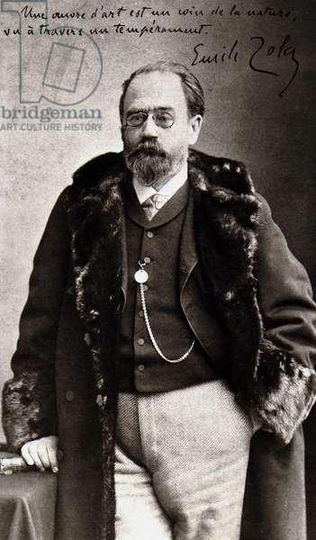 Portrait of Emile Zola (1840 - 1902) by Nadar.