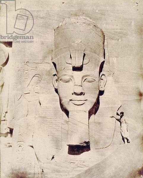 Travel to Egypt with Flaubert, photo by Maxime Du Camp. Colossus of Abu Simbel (Abu Simbel).