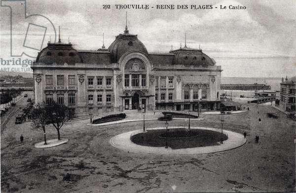 Trouville - casino - 1910s, postcard. France, 20th century.