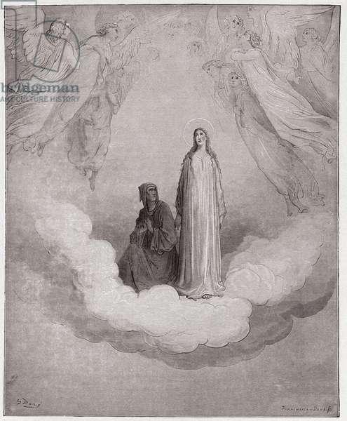 The Divine Comedy (La Divina Commedia, La Divine Comedie), Paradiso, Canto 21: Blessed Beatrice in the seventh circle - by Dante Alighieri (1265-1321) - Illustration by Gustave Dore (1832-1883), 1885
