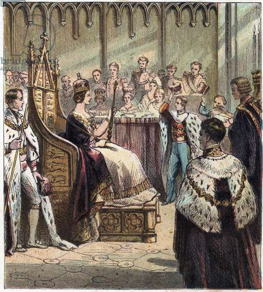 Coronation of Queen Victoria Iere of England, London, Westminster Abbey, June 28, 1838. Coronation of Victoria, 1838 '
