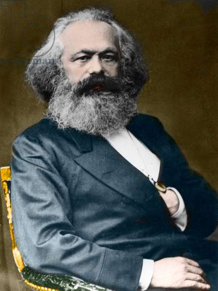 Portrait of Karl Marx (1818-1883).