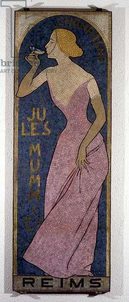 Mosaic for Champagne Mumm, late 19th century