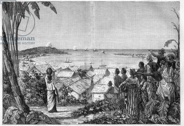 Colonization of Madagascar by France - Bombardment of Toamasina (formerly Tamatave, Madagascar) June 11, 1883
