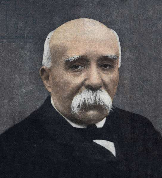 Portrait of Georges Clemenceau (1841-1929), French politician in 1917.